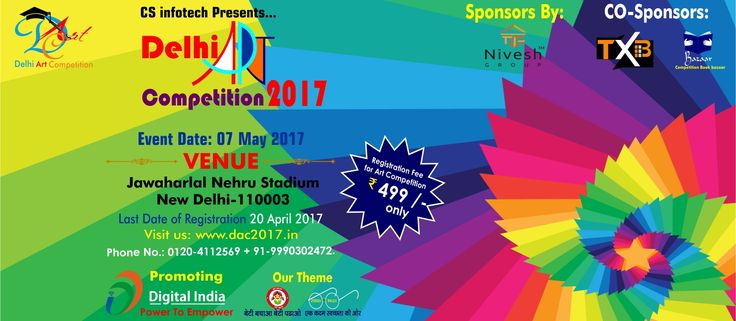 #DAC2017 #DelhiArtCompetition2017 #ArtCompetitionDelhi2017 A painter should begin every canvas with a wash of black, because all things in nature are dark except where exposed by the light  To Register DAC2017, Kindly visit us at https://www.dac2017.in/