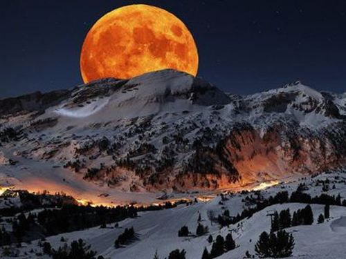 moonHarvest Moon, Glorious Moon, Majestic Mountain, Moon Rise, Moon, Beautiful Moon, Mountain Moon, Full Moon, Snowy Mountain