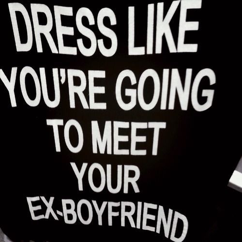 what to say when you meet your ex boyfriend