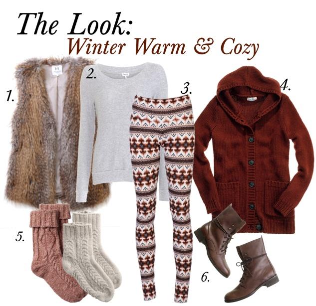 winter warm & cozy (love it minus the vest): Winter Outfit, Cozy Outfit, Fur Vest