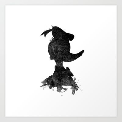 Donald Duck Art Print by Spades - $18.00