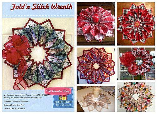 100 best fold n u0026 39  stitch  u0026 paper wreaths images on