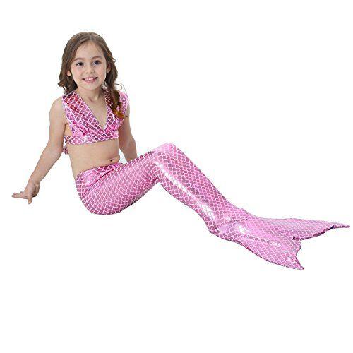 coda da sirena per nuotare bambina
