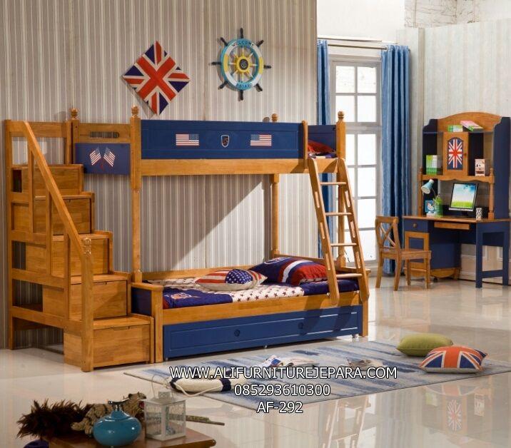 Desain Tempat Tidur Tingkat Minimalis Amerika Af 292 Tempat