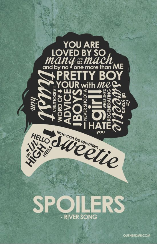 River Song, Doctor Who (2005–) ~ TV Series Quotes Poster by Stephen Poon #amusementphile
