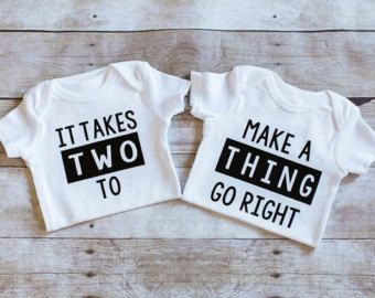 Twin Onesies Born together friends forever by AdsAndMarnieCo