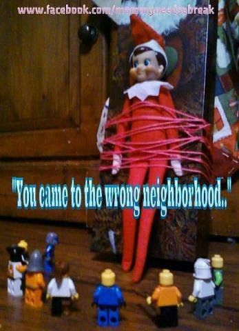 Elf on a shelf...Not in this home.