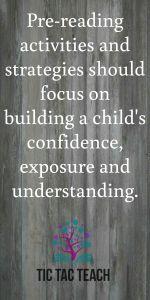 Pre-reading activities need to build a child's confidence #preschool #prekinder #teacher #reading #tictacteach