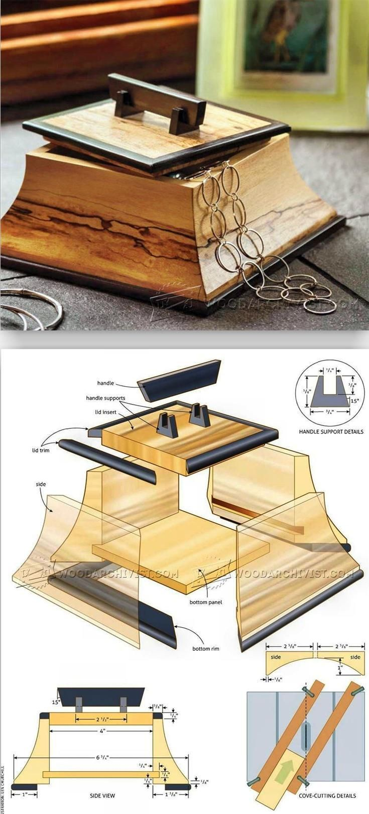 Trinket Box Plans and Projects - Woodworking Plans and Projects | http://WoodArchivist.com