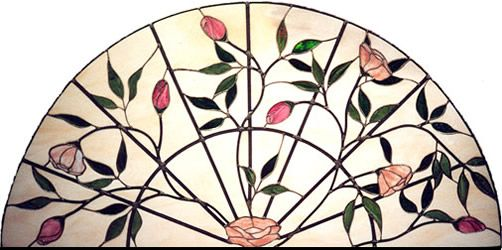 Stained Glass Window - would look great in the arches of my bedroom windows.