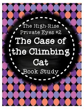 This product is a book study that corresponds with Cynthia Rylant's mystery book Case of the Climbing Cat from The High-Rise Private Eyes series. There are 4-5 comprehension questions for each chapter, along with vocabulary practice. A planning page is included so students can keep track of the mystery, suspects, clues, the victim, and how the case was solved.