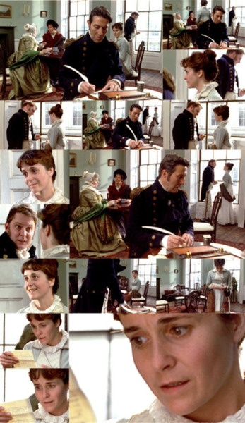 Persuasion (BBC, TV mini-serie, 1995) oh my favorite part!!! thats it another read of persuasion after I finish national velvet