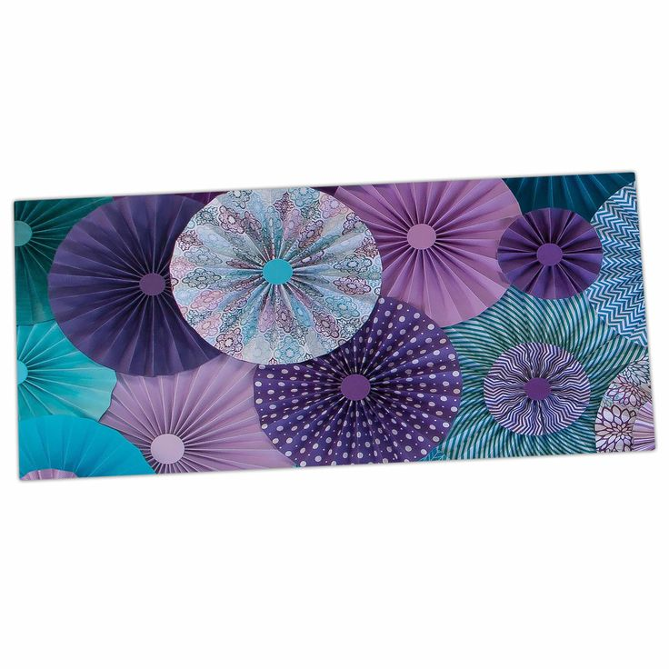 "Heidi Jennings ""Amethyst Glacier"" Teal Purple Desk Mat"