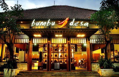 Bumbu Desa is a chain of Sundanese food restaurants, popular in Jakarta and in other Indonesian cities. http://www.goindonesia.com/id/indonesia/jawa/bandung/makanan/restauran/bumbu_desa