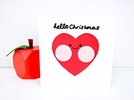Christmas Card Cute Christmas Card Christmas Love Card Kawaii