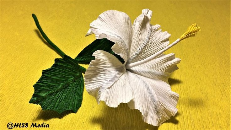 how to  make  easy origami hibiscus paper flower/diy crepe paper flower ...