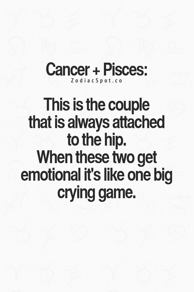 pisces and cancer relationship funn