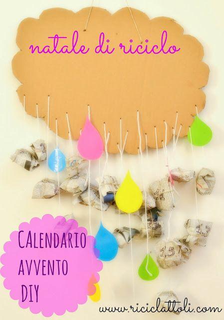 #nataleincasatrippando #Riciclattoli (e dintorni...): #Calendario dell'#avvento fai da te: una nuvola piena di #sorprese