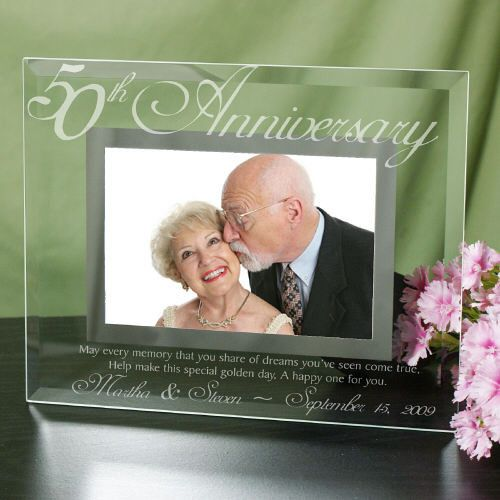 50th Anniversary Glass Picture Frame