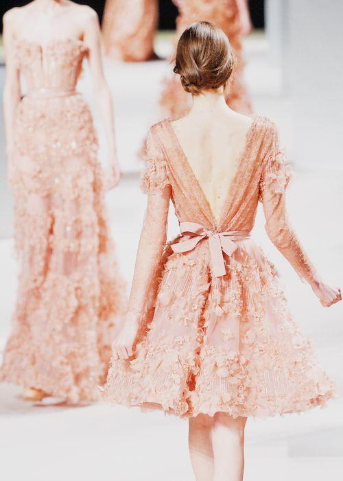 Julia Saner, Elie Saab ss11 couture - back: Eliesaab, Fashion, Elie Saab, Style, Dresses, Wedding Dress, Bow, Haute Couture