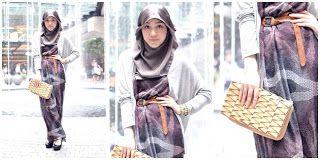 10 Gaya Hijab Modern ala Hana Tajima (Plus Tutorialnya) - Kumpulan Tutorial Memakai Jilbab Terbaru