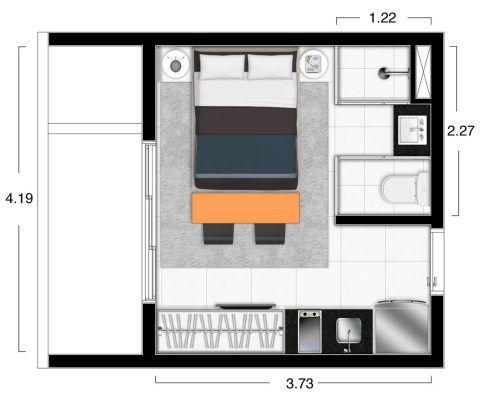 97 best Plan Maison images on Pinterest Small houses, Tiny houses - plan maison plain pied 80m2
