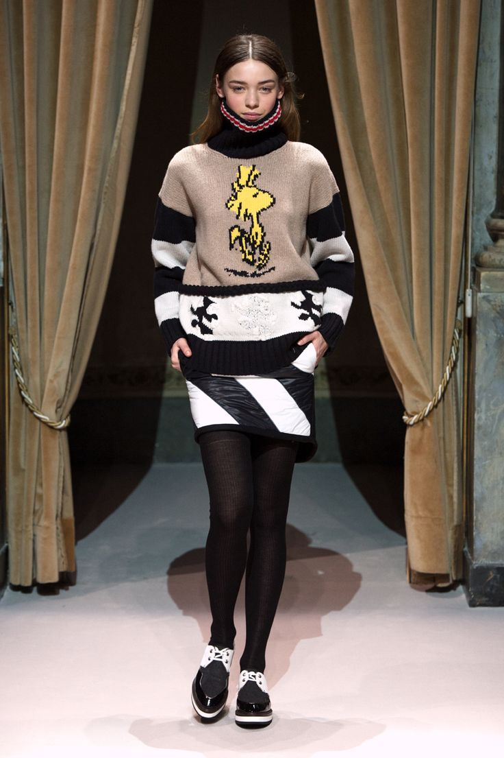 Look 8 from Fay Women's Fall - Winter 2014/15 collection seen on the catwalk.
