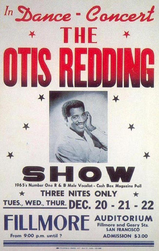 Classic 1960s Otis Redding Concert Poster