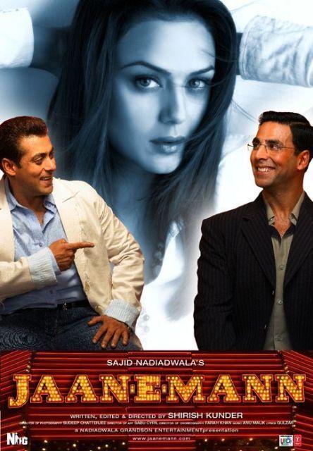 Jaan-E-Mann (2006) Hindi 720p WEB-DL 1.4GB x264 Release Date: 20 October 2006 (India) Director: Shirish Kunder   Genre: Drama, Musical, Romance Cast: Salman Khan, Akshay Kumar, Preity Zinta Resolution: 1280×544   File Size: 1.38 GiB   Runtime: 2h 44mn