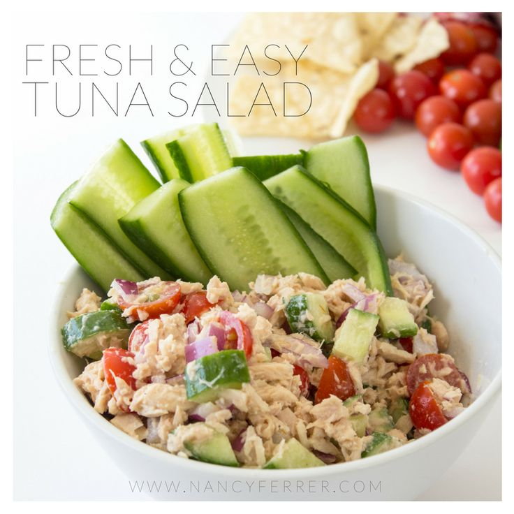This Fresh Tuna Salad Recipe is a spin off of a meal my mom would always make for us and it was simple and delicious. Tuna, chopped onions and tomato mixed with mayo and ketchup. She would fry up some tostadas or we would use white bread to scoop up the tuna salad. Pickled jalapeños...