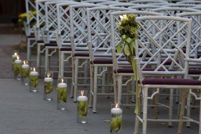wedding flowers cylinders floating flowers