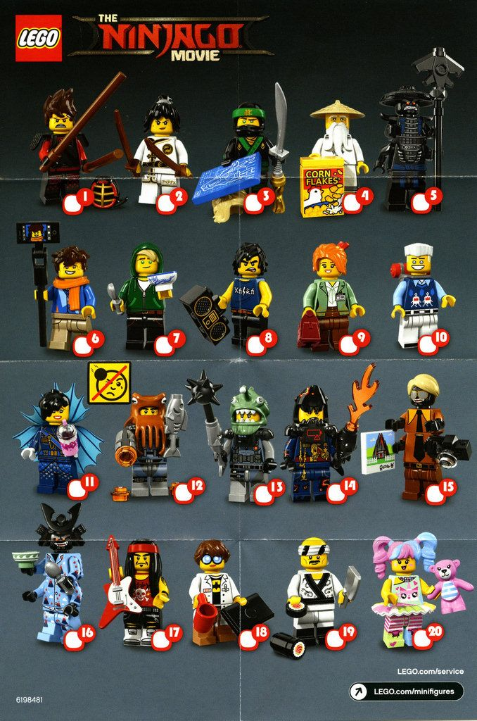 As you may have seen on social media we've received a box of The LEGO Ninjago Movie minfigures and our review is being prepared as I type. In the meantime I thought it would be useful to post a scan of the collector's sheet.