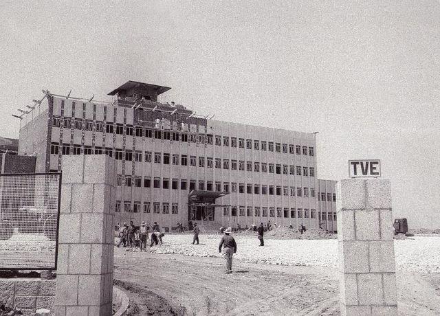 11 julio 1964.Construcción de los nuevos estudios de television española en Prado del Rey.