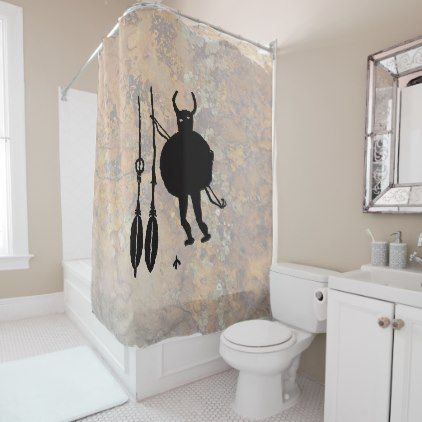 Monster Slayer Blanco New Mexico Shower Curtain