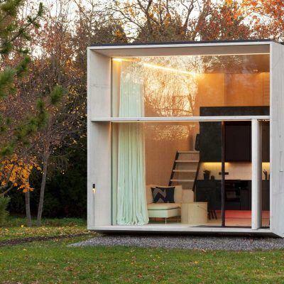 Cube house! Small but efficient. Solar panels. Can be disassembled and moved. Reassembly takes less than a day.