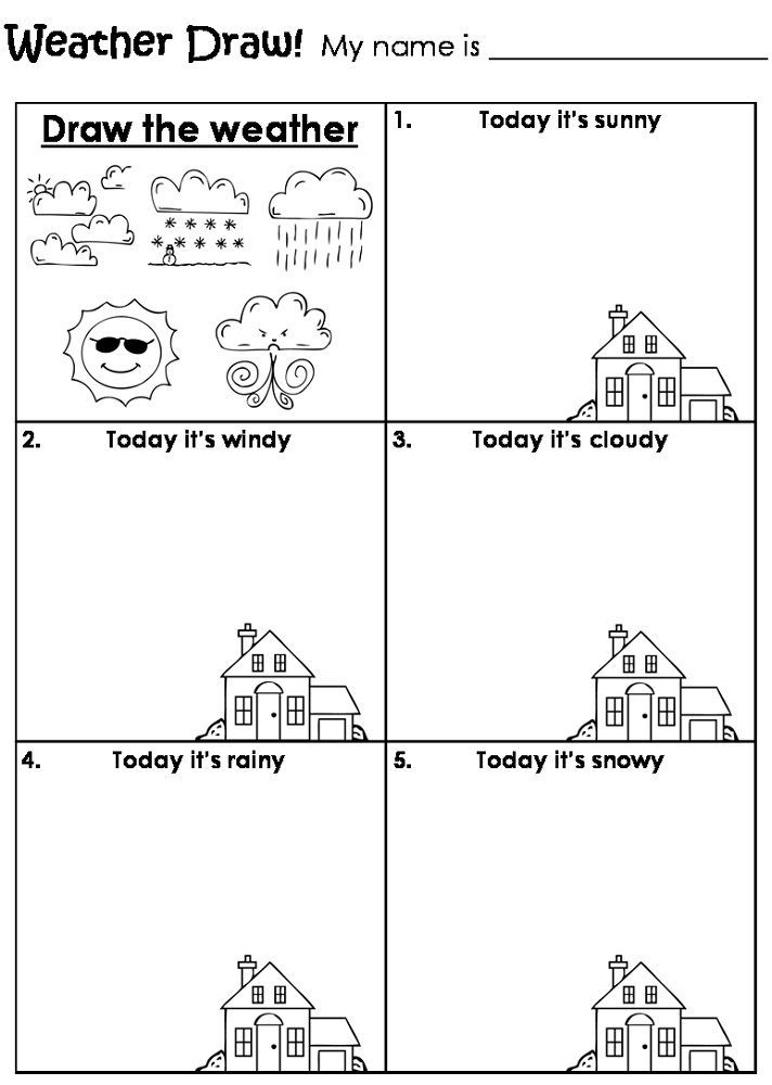Kids Activity Sheets Weather In 2020 Teaching Weather, Preschool Weather, Weather  Worksheets