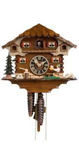 Relógio de Cuco<br>Casa da Floresta Negra com bebedor de cerveja que se move