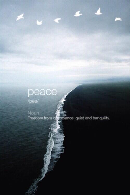 """Paz (del lat. """"pax, pacis"""") - pron. Libertad de toda perturbación. Calma y tranquilidad."""