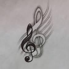 Billedresultat for dibujos de notas musicales a lapiz #TattooIdeasDibujos
