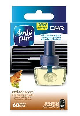 Ambi Pur Auto Luchtverfrisser Navulling After Tobacco 8 ml  Description: Ambi Pur Auto Luchtverfrisser Navulling After Tobacco 8 ml Iedere onaangename geur verdwijnt uit je auto-interieur.Kan eenvoudig in het ventilatierooster van de auto geplaatst worden. Inclusief regelbare houder.Elke vulling gaat ongeveer 45 dagen mee (op de gemiddelde stand). Inhoud: Ambi Pur Auto Luchtverfrisser Navulling After Tobacco 8 ml  Price: 1.99  Meer informatie