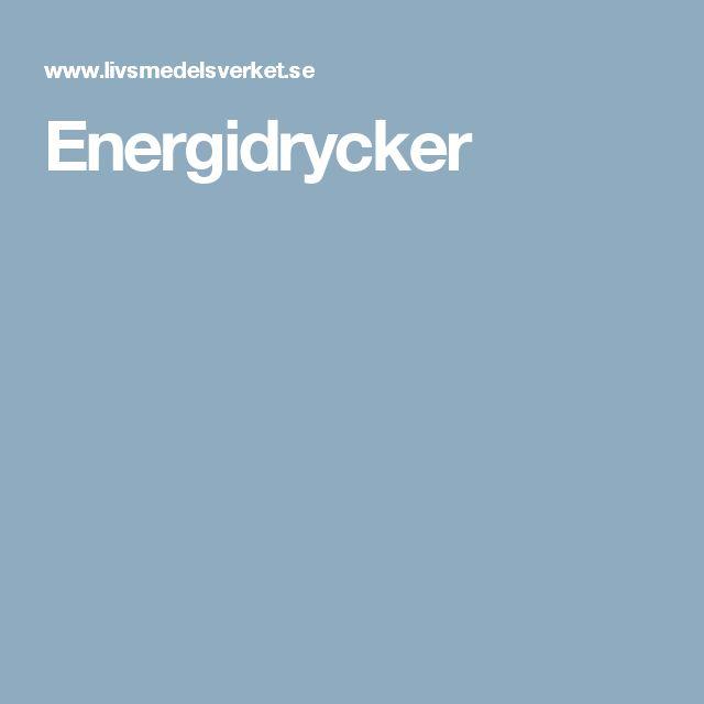 Energidrycker