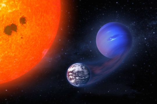 Some Potentially Habitable Planets Began as Gaseous, Neptune-like Worlds -- Two phenomena known to inhibit the potential habitability of planets -- tidal forces and vigorous stellar activity -- might instead help chances for life on certain planets orbiting low-mass stars, astronomers have found.