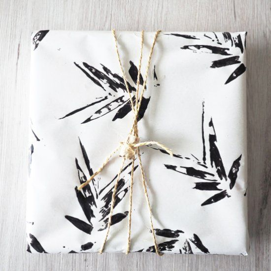 how to make this bamboo leaf print wrapping paper tap to find out