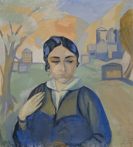 Павел Кузнецов Варфоломеевич  (1878 - 1968) Актриса Е..  В.  Pozoevayi портрет