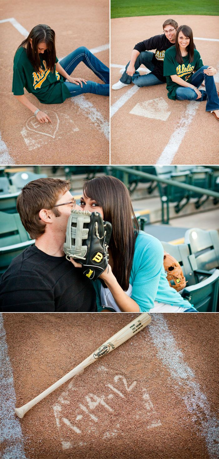 baseballBasebal Photos, Baseball Engagement Pictures, Photos Ideas, Photo Ideas, Cute Ideas, Baseball Engagement Photos, Engagement Pics, Baseball Weddings, Basebal Pictures