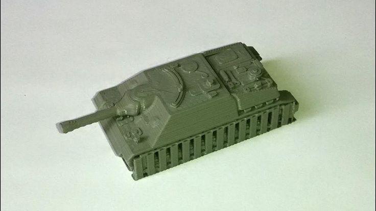 3D tisk tanku, časosběrné video