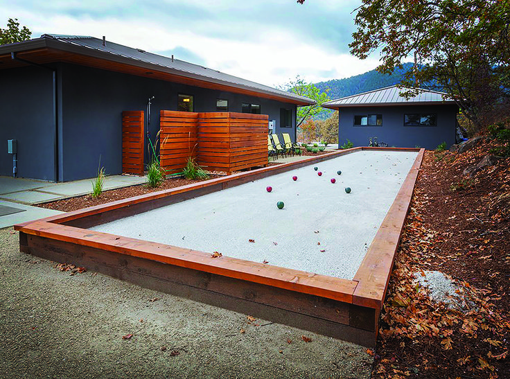 Do it yourself build your own backyard bocce ball court
