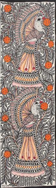 Indian Painting Styles...Madhubani/Mithila Painting (Bihar)-peacock-madhubani-style1-29-.jpg