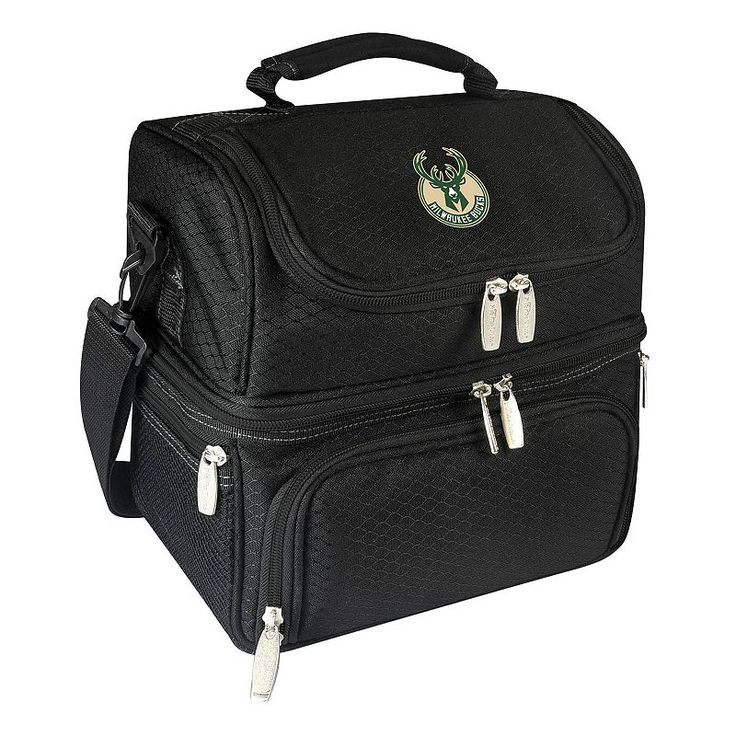 Picnic Time Milwaukee Bucks Pranzo 7-Piece Insulated Cooler Lunch Tote Set, Black