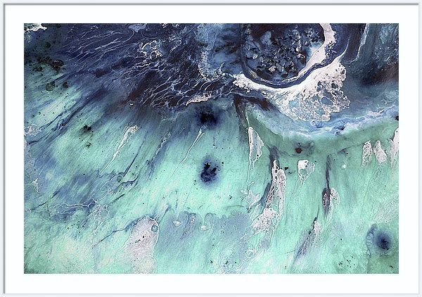 """ Seascape Wave  AUSTRALIA OCEAN ABSTRACT SEASCAPE - GREEN POOL ( AUSTRALIA, OCEAN, SEA, WATER resin SEASCAPE PAINTING )"" by Marie Antuanelle. Paintings for Sale. Bluethumb - Online Art Gallery"
